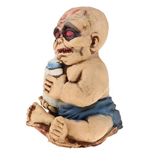 Baoblaze Gruselige Zombie Geist Babypuppe Halloween Puppen Party Prop Dekoration Ornament - B