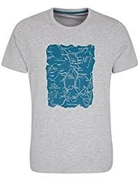 Mountain Warehouse London Te de Mens - Camiseta Ligera del Verano, Tapa de Wicking del Sudor, Impresión de la Calidad, Camisa Divertida