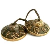 Tingsha Tibetanische Glocken / Glockenspiel, Buddhistischer Glücksbringer, klein