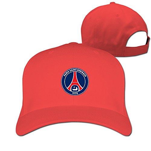 XCarmen MINUCM Football Nasser Al-Khelaifi Paris Saint Germain FC Logo Fitted Hats Red
