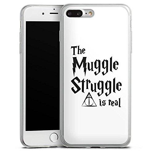 Apple iPhone X Slim Case Silikon Hülle Schutzhülle Harry Potter Muggle Struggle Statement Silikon Slim Case transparent