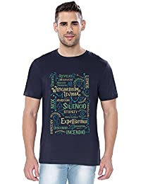 The Souled Store HARRY POTTER: Spells Movie Printed Premium Cotton T-shirt for Men Women and Girls