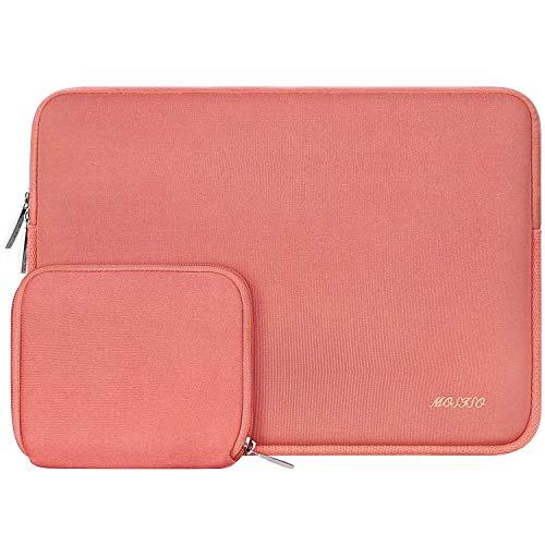 MOSISO Wasserabweisend Neopren Hülle Sleeve Tasche Kompatibel mit 13-13,3 Zoll MacBook Pro, MacBook Air, Notebook Computer Laptophülle Laptoptasche Notebooktasche mit Kleinen Fall, Lebend Koralle