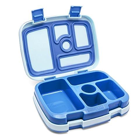Bentgo Kids – Kinder Lunchbox / Bento Box / Brotdose mit 5 Unterteilungen, auslaufsicher (Blau)