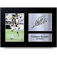Cristiano Ronaldo I Regali Firmarono A4 Stamparono Autografo Juventus Mostra di Fotografia