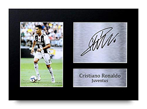 HWC Trading Cristiano Ronaldo Gift Signed A4 Printed Autograph Gifts Photo Display