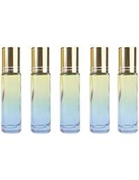 JUNGEN 5 Piezas Botella de Viaje, Vacíos Botella de Vidrio Rellenable con Bola de Rodillo