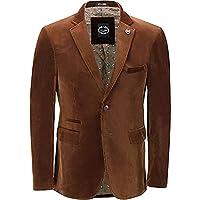 Xposed Mens Soft Corduroy Blazer Coat Vintage Retro Tailored Suit Jacket UK