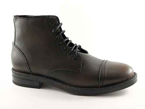 FRAU 75M5 antracite scarpe uomo mid scarponcini stivaletti pelle
