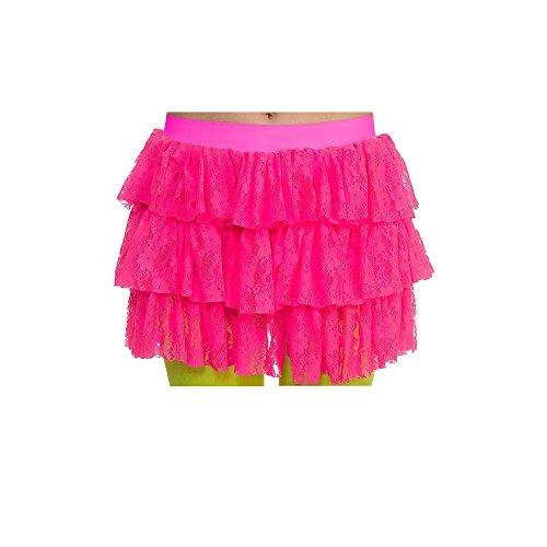 80's Lacy Ra-Ra Skirt Hot Pink for Fancy dress ()