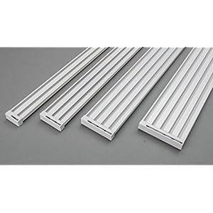 Rollmayer glänzend Weiß Gardinenschiene ALU 2, 3, 4, 5-läufig Deckenbefestigung (2-läufig, 360cm - nur Gardinenschiene) Aluminium Vorhangschiene für Schiebevorhang Vorhang, Gardinen