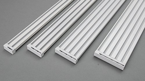 Rollmayer glänzend Weiß Gardinenschiene ALU 2, 3, 4, 5-läufig Deckenbefestigung (3-läufig, 280cm - nur Gardinenschiene) Aluminium Vorhangschiene für Schiebevorhang Vorhang, Gardinen