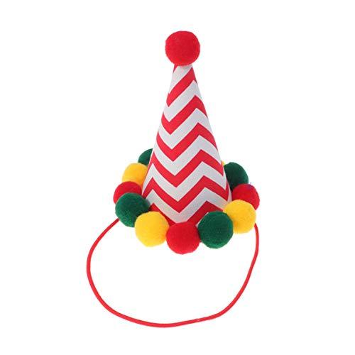 Balacoo Hunde Weihnachtsmütze mit Pom Pom Katzen Weihnachtskostüm Weihnachtshüte Nikolausmütze Weihnachten Hunde Hut für Kinder Haustier Xmas Party Kostüm Santa - Assistenten Kostüm Kinder