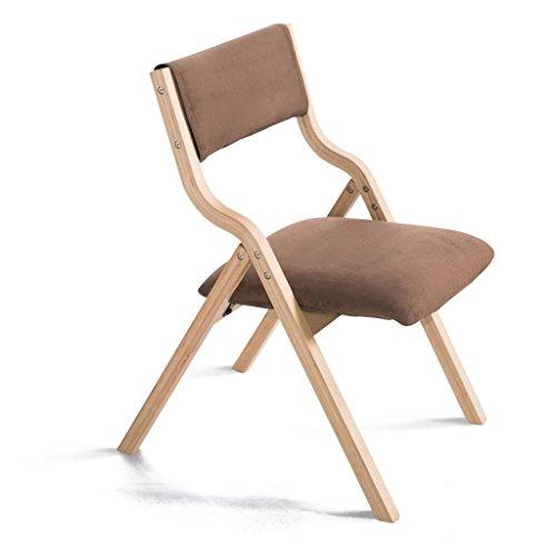 Sitze, Möbel Sessel Massivholz Stent Einfach falten Tuch Rückenlehne Sitzbezug Kann gewaschen und gewaschen werden Schwamm Füllung 48,5 * 46 * 78,5 cm Zwei Farben Computertisch Restaurant , A , brown