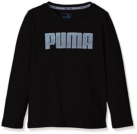 Puma Sport T-Shirt manches longues Garçon Noir FR : 10 ans (Taille Fabricant : 140)