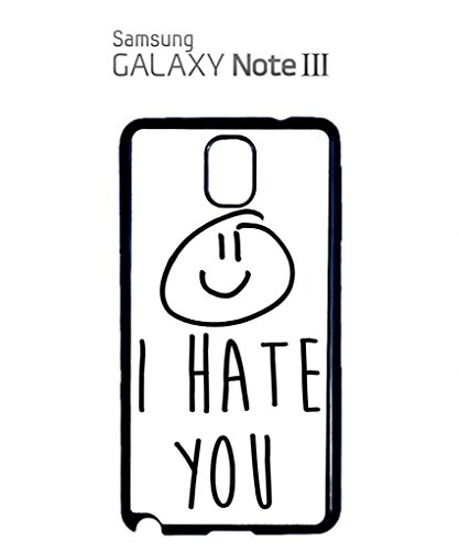 I Hate You X Smiley Mobile Cell Phone Case Samsung Galaxy S4 Black Weiß
