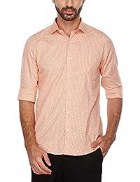 Turtle Mens Slim Collar Check Shirt