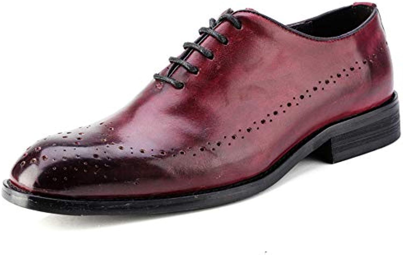 SRY-scarpe, Scarpe Stringate Uomo, Rosso Rosso Rosso (Wine rosso), 39.5 EU | Buona Reputazione Over The World  f88274