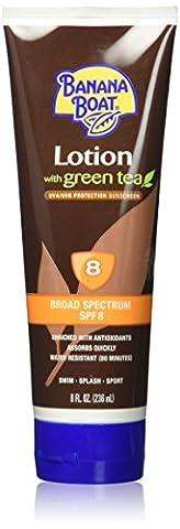 Banana Boat. Deep Tanning with Green Tea Sunscreen SPF 8: 8 OZ