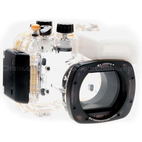 CameraPlus - Unterwasser digitalkamera - Unterwassergehäuse für Canon PowerShot S100 bis 40m Wasserdicht leicht bedienbar WP-DC43
