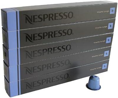 Nespresso Capsulas azul - 50x Vivalto Lungo - Original Nestlé - Lungo cafe - Surtido