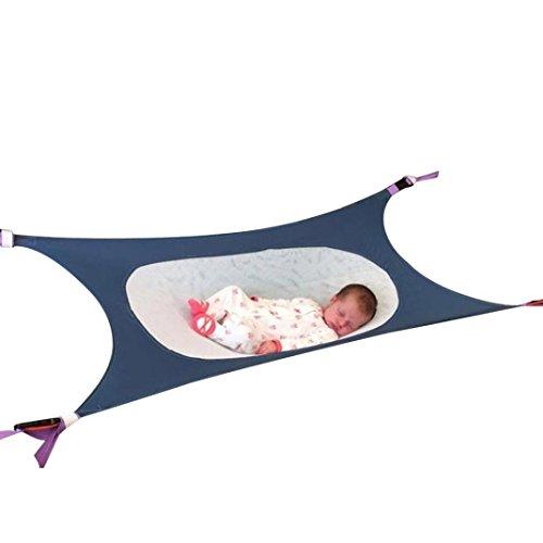 SHOBDW Säuglingssicherheit Baby Hängematte Print Neugeborene Kinder Abnehmbare Portable Bed (Blau) (Vier-punkt-hängematte)