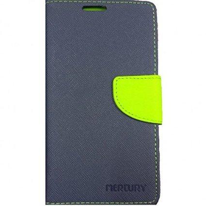 MACC Mercury Goospery Fancy Diary Case Flip Cover for Samsung Galaxy S4 i9500 - Navy Blue & Lime