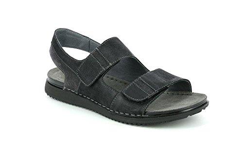 Grunland sa1626 cren sandalo uomo p. nero 41