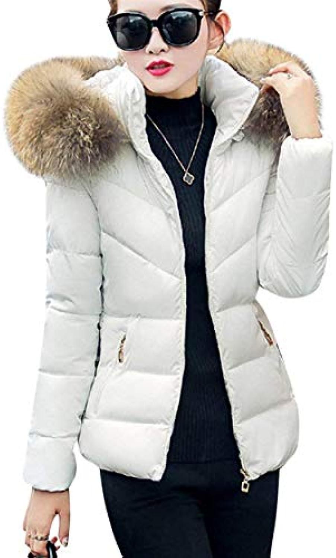 Piumino Donna Invernali Manica Slim Lunga Slim Manica Fit con Cappuccio in  Pelliccia Giaccone Eleganti Fashion 78c6e76145c