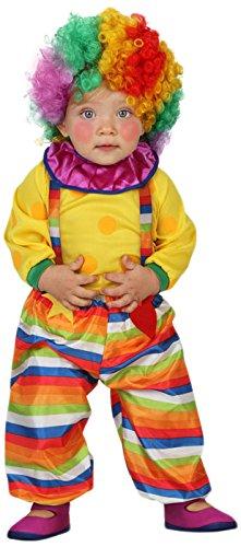 ATOSA 23752 - Clown Kostüm, Größe 12-24 Monate, - Süße Clown Kostüm Kleinkind