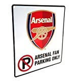 Official Arsenal FC Metal No Parking Sign - A Great Gift / Present For Men, Boys, Sons, Husbands, Dads, Boyfriends For C