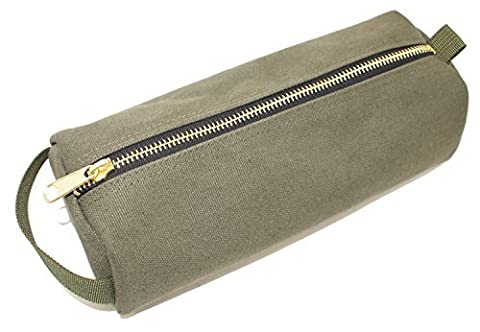 Rough Enough Highly Heavy Canvas Military Classic Small Tool Pencil Case Pouch (Army Green) by ROUGH ENOUGH