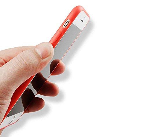 CAOLATOR TPU Bumper Case Hülle Schutzhülle Matten Extra Dünn Ultra Leicht Bumper Schutzhülle Hülle Schutzhülle für Apple iPhone 6/ 6S (Grün) Rosa