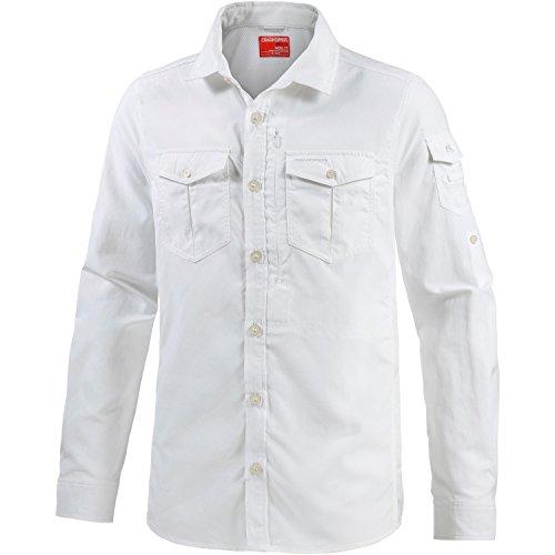 Craghoppers NosiLife Adventure Langarm Hemd Men - Outdoorhemd ,S (EU 48), optic white 3ER
