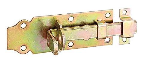 GAH-Alberts Verrou de box ou targette droit, pêne plat avec gâche fixe 100 x 44 mm Surface galvanisée à chaud