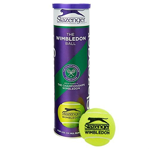 Slazenger Wimbledon Official Tennis Balls- 3 Tubes 12 Balls Special Offer - by Slazenger