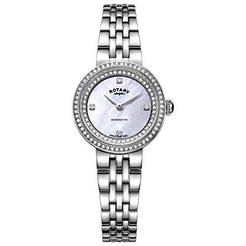 Rotary Orologio da donna in acciaio con cinturino in cristallo kensington LB05370/41