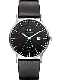 Danish Design Herren-Armbanduhr Analog Leder Schwarz DZ120305