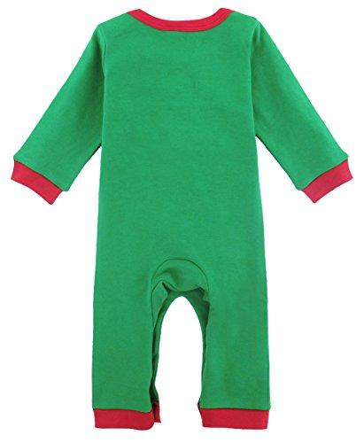 Imagen de mombebe bebé niños disfraz navidad duende de navidad mameluco con gorros duende de navidad, 9 12 meses  alternativa