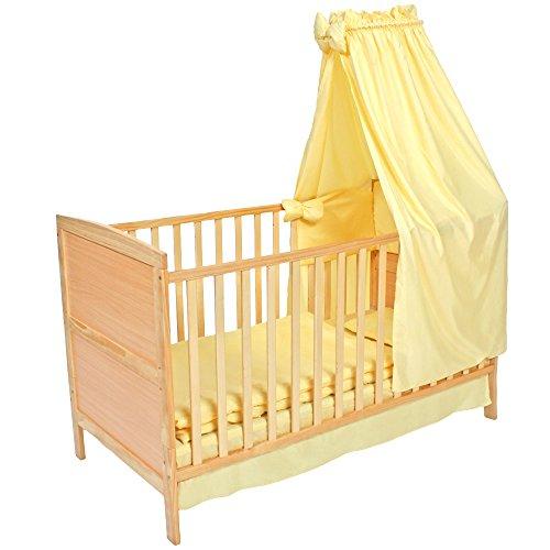 Tectake cama de beb con dosel cuna infantil madera - Cunas con dosel ...