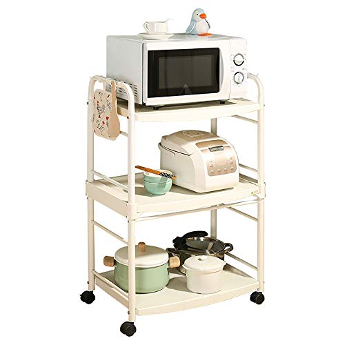 Zzhf yushizhiwujia ripiani della cucina / carrello della cucina / cremagliera del forno a microonde / pavimento multistrato / con le ruote / scaffale di stoccaggio mobile / cremagliera di plastica del