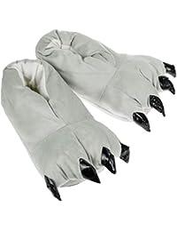 Yuson Girl Unisex Pantofole Animal Costume Paw Claw Shoes Inverno Peluche