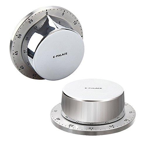 Timer da cucina, timer di cottura allarme orologio con dorso magnetico  supporto, corpo in acciaio INOX meccanico countdown timer da cucina  promemoria ...