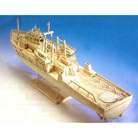 Oil Rig Apoyo al buque - kit de envío nave modelo de construcción cerilla -