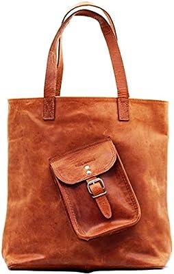 LE CABAS Cuir Vintage Sac à Main de Cours sac vintage shopping femme PAUL MARIUS