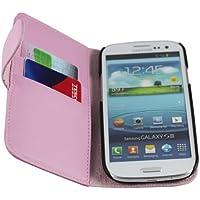 JAMMYLIZARD | Lederhülle für Samsung Galaxy S3 / S3 Neo Ledertasche [ Wallet Tasche Series ] Leder Book Case Hülle Flip Cover Schutzhülle mit Kartenfach, Rosa