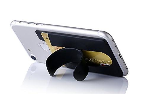 Kronya® | Smartphone Kartenhalter + Ständer | Auto Case Etui