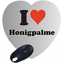 """Exklusive Geschenkidee: Herz Mauspad """"I Love Honigpalme"""" eine tolle Geschenkidee die von Herzen kommt- Rutschfestes Mousepad- Weihnachts Geschenktipp"""