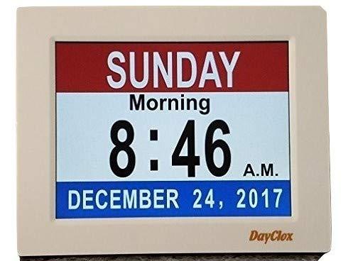 Dayclox Memory Verlust Digitaler Kalender mm Uhr mit Rot Weiß & Blau Oder Schwarz & Weiß Abschnitt Display Blau Digital Memory