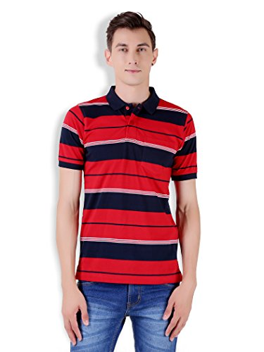 Tapasya Red Navy Polo T-Shirt